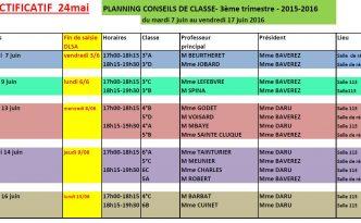 Conseils de classe T3 2016
